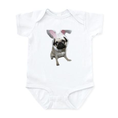 Easter Pug Infant Bodysuit