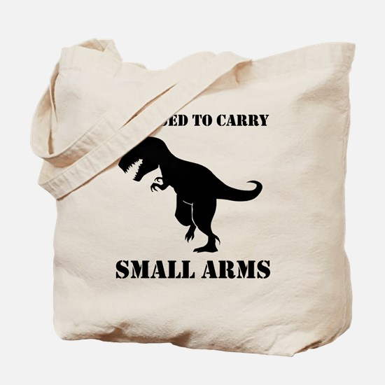 Licensed To Carry Small Arms T-rex Dinosaur Tote B