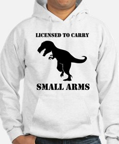 Licensed To Carry Small Arms T-rex Dinosaur Hoodie