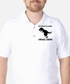 Licensed To Carry Small Arms T-rex Dinosaur Golf S