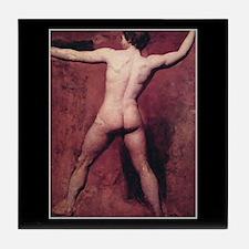 Academic Male Nude Tile Coaster