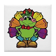 Country Style Turkey Froggy Tile Coaster