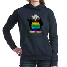 Penguin rainbow png.png Hooded Sweatshirt