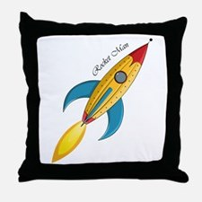 Rocket Man Rocket Ship Throw Pillow