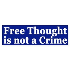 Free Thought is not a Crime (sticker)
