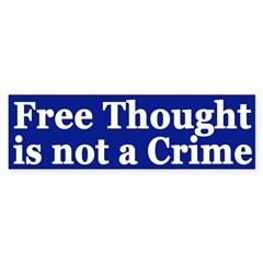 Free Thought is Not a Crime (car sticker)