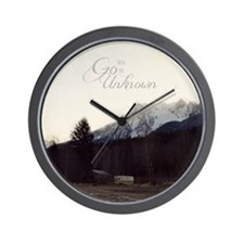 Go Into the Unknown Wall Clock