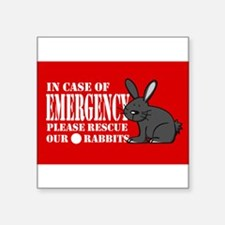 Rabbit Rescue Rectangle Sticker