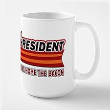 BACON 4 President Streamliner Large Mug