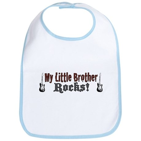 My Little Brother Rocks Bib