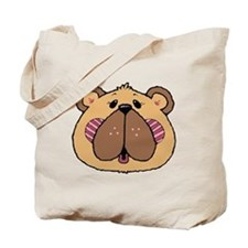 Cute Country Style Bear Face Tote Bag