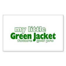 Little Green Jacket Rectangle Decal