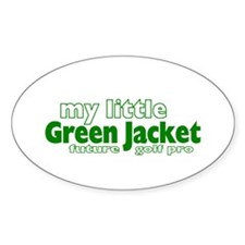 Little Green Jacket Oval Decal