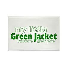 Little Green Jacket Rectangle Magnet