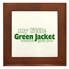 Little Green Jacket Framed Tile