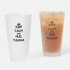 Keep Calm and HUG Yuliana Drinking Glass