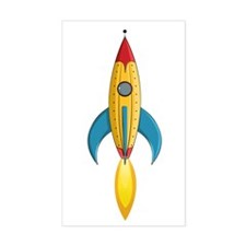 Rocket Ship Decal