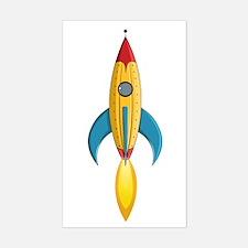 Rocket Ship Sticker (Rectangle)