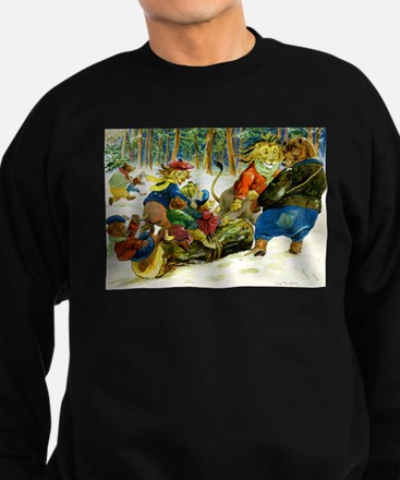 Christmas Yule Log in Animal Land Jumper Sweater