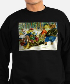 Christmas Yule Log in Animal Land Sweatshirt