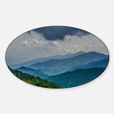 Mountains Landscape Sticker (Oval)