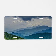 Mountains Landscape Aluminum License Plate