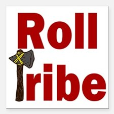"RollTribeRed Square Car Magnet 3"" x 3"""