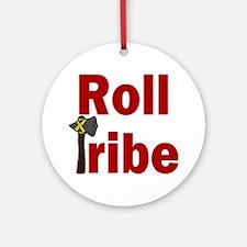 RollTribeRed Round Ornament