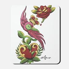 Swallow Crown Tattoo Mousepad