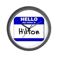 hello my name is hilton  Wall Clock