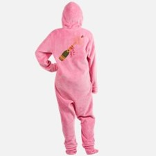Champagne Bottle Footed Pajamas