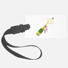 Champagne Bottle Luggage Tag