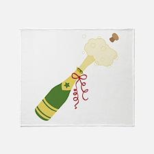Champagne Bottle Throw Blanket