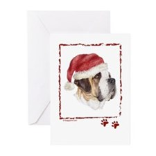 Merry Christmas Saint Bernard Greeting Cards