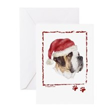 Merry Christmas Saint Bernard Greeting Cards