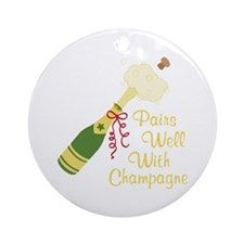 Pairs Well With Champagne Ornament (Round)