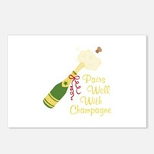 Pairs Well With Champagne Postcards (Package of 8)