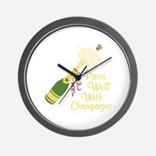Pairs Well With Champagne Wall Clock