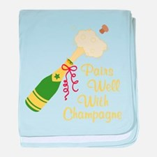 Pairs Well With Champagne baby blanket