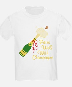 Pairs Well With Champagne T-Shirt