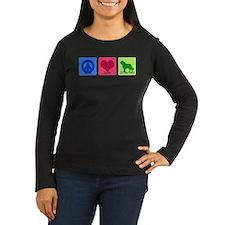 Peace Love St Bernard Long Sleeve T-Shirt