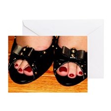 Fabulous Shoes, Sexy Toes Greeting Card