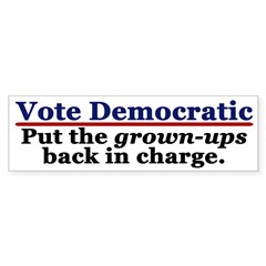 Democratic Party: the Grown-Ups (sticker)