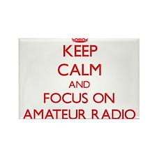 Keep calm and focus on Amateur Radio Magnets