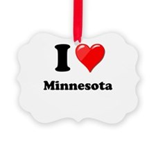 I Love Minnesota Ornament