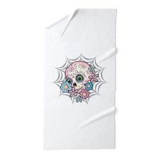 Sweet Sugar Skull Beach Towel