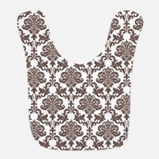 Brown Damask Bib