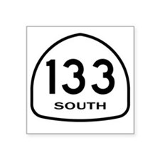 "133 South Square Sticker 3"" x 3"""