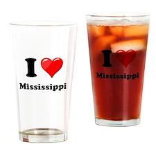 I Love Mississippi Drinking Glass