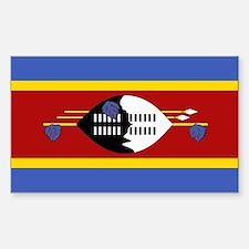 Swaziland Flag Sticker (Rectangle)